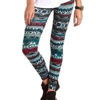 MIXED PRINT COTTON LEGGING