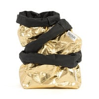 gold metallic / paper bags
