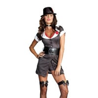 Dreamgirl Womens Mobster Boss Halloween Party Dress Costume