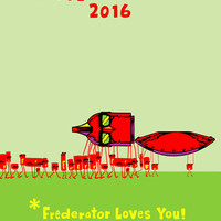 Signed Exclusive Happy New Year !* From Frederator 2016 Poster