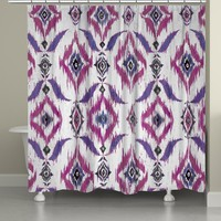Purple Ikat Shower Curtain