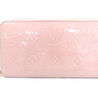 LOUIS VUITTON Zippy Wallet Rose Ballerinne Monogram Vernis M61226