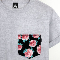 ANDCLOTHING — Deep Rose AND Pocket Tee