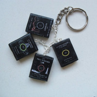 Lord of the Rings book charm keychain