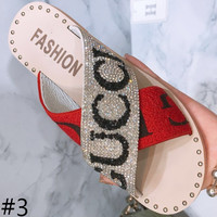 GUCCI 2018 summer new fashion open-toed wild women slippers F0229-1 #3