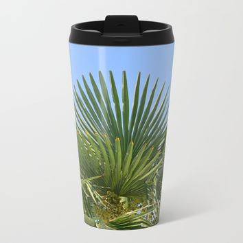 Palm tree and sky Metal Travel Mug by ArtGenerations