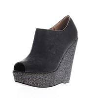 Iron Fist Manslayer Bootie Wedge Shoes Black - Iron Fist Manslayer Bootie Wedge Shoes Black -