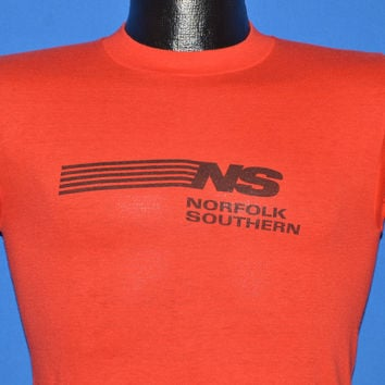 80s Norfolk Southern Railroad t-shirt Small