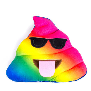 Rainbow Poo Emoji Pillow
