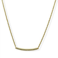 T Tahari Pave Bar Necklace - Gold/Crystal