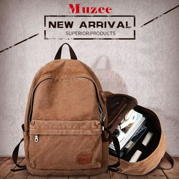 Muzee Retro Men USB Design Backpack Casual Canvas Bag Fashion Backpack Student bag Male Laptop Backpack Travel bag