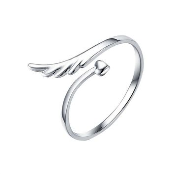Lady Angle Wing Style Adjustable Finger Ring