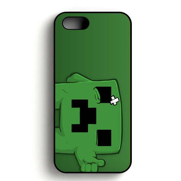 Minecraft Creeper iPhone 5, iPhone 5s and iPhone 5S Gold case