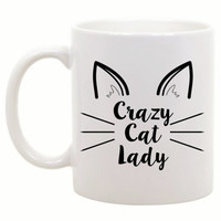 Cat Lover Gift - Funny Cat Mug - Funny Coffee Mug - Funny Coffee Cup - Gift for Cat Owner - Crazy Cat Lady Mug - Funny Gift - Office Gift