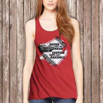 Supernatural driver picks the music Women Tanktop - tri1 Tanktop For Women  / Custom - Tanktop / Women Tanktop