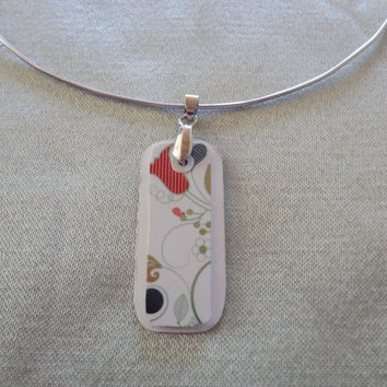 Lovely Floral Pendant Necklace Recycled by farmchicsophisticate