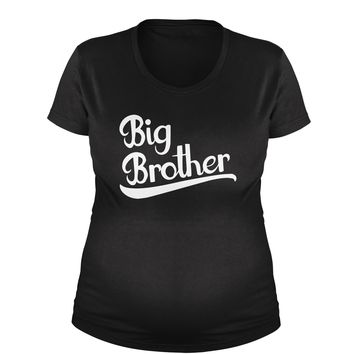 Big Brother New Family Member Maternity Pregnancy Scoop Neck T-Shirt
