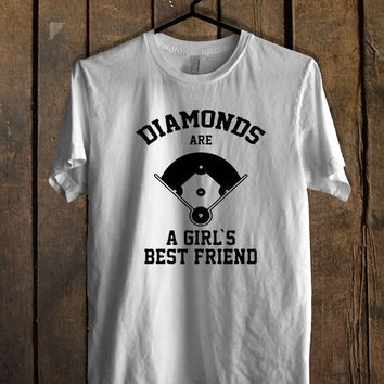 Diamonds Are A Girls Best Friend baseball T Shirt Mens T Shirt and Womens T Shirt **
