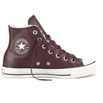 DCCKIN4 Converse All-Star Chuck Taylor - Burgundy Leather Lace-Up Sneaker