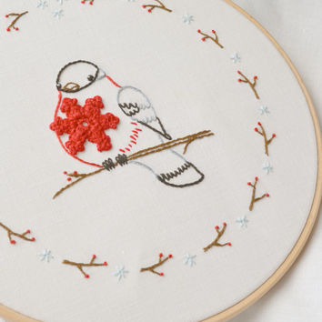 Christmas Embroidery Design Hand From Naiveneedle On Etsy