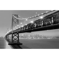 "Canvas Wall Art Black & White New York City Bridge, 21.5"" x 32.5"" - Walmart.com"