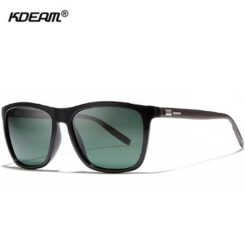 lightweight Aluminum Men's Sunglasses Polarized Faultlessly Night Vision Glasses UV400 HD Display Lens Polaroid Sunglass KDEAM
