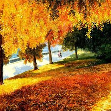 5D Diamond Painting Autumn Leaves Kit
