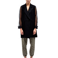 Emiliano Rinaldi Womens Chalet Dress with Sheer Sleeves