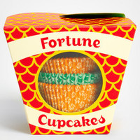 Fortune Cookie Cupcakes