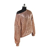 MAI Sequined Loose Fitted Top