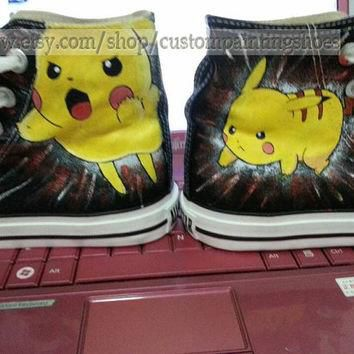 pokemon shoes pokemon anime Converse pokemon hand painted shoes