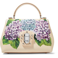 Dolce & Gabbana - Lucia small printed textured-leather tote