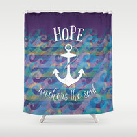 Hope Anchors the Soul Shower Curtain by Noonday Design