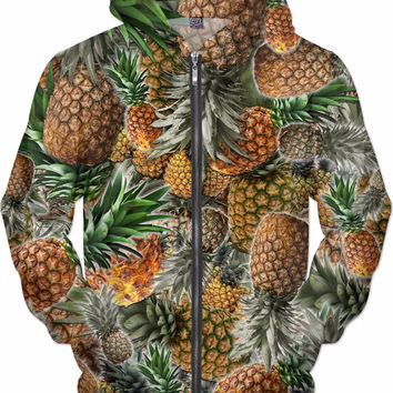 Pineapple Patch Zip Up Hoodie