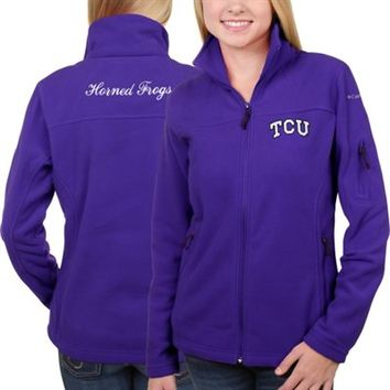 Women's TCU Horned Frogs Columbia Purple Give & Go Full Zip Jacket