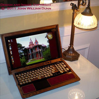 The eCog Mercury (tm) Steampunk Cover for the Sony VAIO (R) F-Series Laptop, Boilerplate Edition