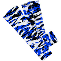 Digital ripped blue, white and black arm sleeve