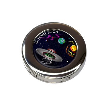 Flying Saucer UFO Planets Space Be Home Soon Purse Hanger