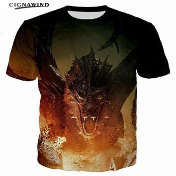 New fashion hip hop summer top t shirts Jon Snow Game of Thrones Printed 3D Men/women t-shirts Fire Dragon streetwear tops tees