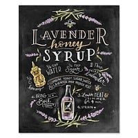 Lavender Honey Syrup Recipe - Print