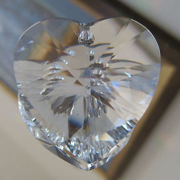 Swarovski Crystal Xilion Heart Pendant Prism Ornament, 40mm New