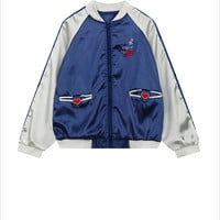 My Heart Is Here Silky Bomber Jacket