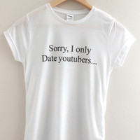 Only Date YouTubers Graphic Junior's Tee