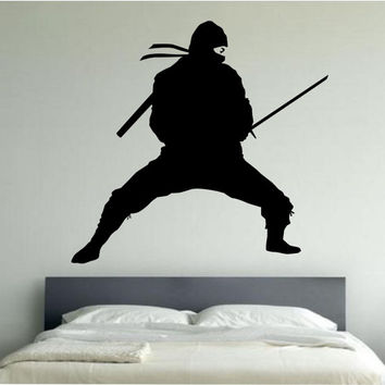 NInja Wall Decal NINJA STANCE Sticker Art Decor Bedroom Design Mural vinyl karate kids room home decor room decor wall mural