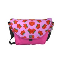 Strawberry pattern small messenger bag
