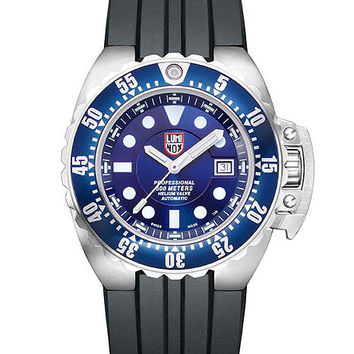 Luminox Mens Deep Dive Automatic Watch - Blue Dial - Polyurethane Strap - Steel
