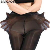 BIVIGAOS Upgraded Super Elastic Magical Tights Silk Stockings Skinny Legs Collant Sexy Pantyhose Prevent Hook Silk Medias Women