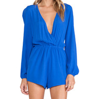 Lovers + Friends Monday to Friday Romper in Blue