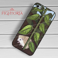 plant and hedgehog-yah for iPhone 4/4S/5/5S/5C/6/ 6+,samsung S3/S4/S5,S6 Regular,S6 edge,samsung note 3/4