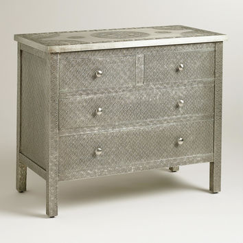 Kiran Embossed Metal Dresser - World Market